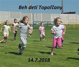 Beh detí Topoľčany - Logo