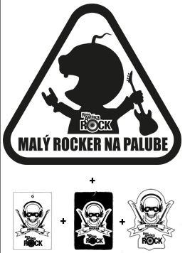 Rockový set do auta - Logo